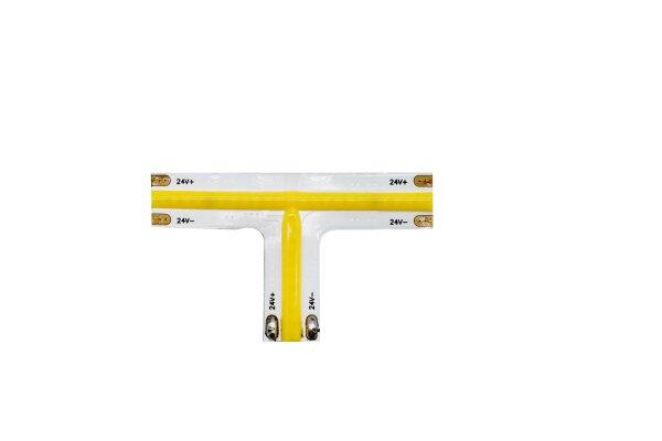 T-Connector COB-Streifen 24V 3000K ww, warm white (8mm, 35smd, IP20)