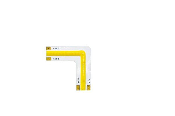 L-Connector COB-Streifen 24V 3000K ww, warm white (8mm, 24smd, IP20)