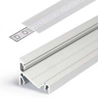 LED Aluminium Eckprofil Set CORNER 14mm (2m) eloxiert...