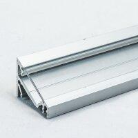 LED Aluminium Eckprofil Set CORNER 14mm 2m eloxiert inkl....