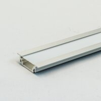 LED Aluminium Einbauprofil Set GROOVE 10mm (2m), eloxiert...