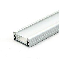 LED Aluminium Anbauprofil Set SURFACE 10mm (2m), eloxiert...