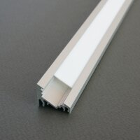 LED Profil CORNER10 (CO) ALU 2m eloxiert + weiße...