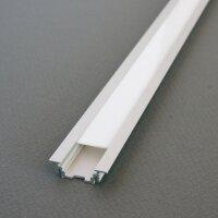 LED Einbauprofil GROOVE10 2m eloxiert + weisse Blende,...