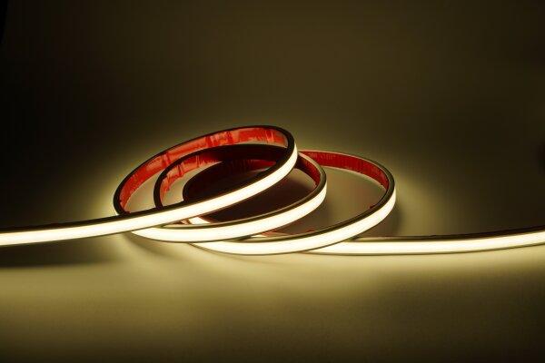 LED Streifen FCOB256-K008-5m 24V 50W 3000K NEON (8mm, IP67, PRO)
